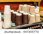 a coffee machine with a large... | Shutterstock . vector #547355773