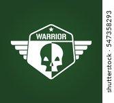 warrior skull military army... | Shutterstock .eps vector #547358293