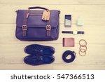 beautiful fashion set for men... | Shutterstock . vector #547366513