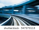 blurred motion of train moving  ... | Shutterstock . vector #547373113