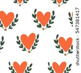 heart pattern  vector seamless... | Shutterstock .eps vector #547381417