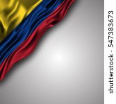colombian waving silky flag... | Shutterstock .eps vector #547383673