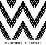 black and white color zigzag...   Shutterstock .eps vector #547384867