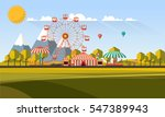 flat illustration of amusement... | Shutterstock .eps vector #547389943