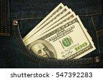 Many U.s. Dollars In Jeans...