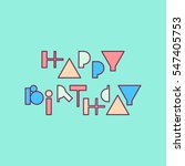 vector linear hipster font ... | Shutterstock .eps vector #547405753