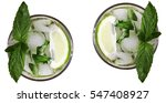 mojito isolated on white... | Shutterstock . vector #547408927