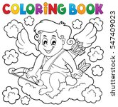 coloring book with cupid 3  ... | Shutterstock .eps vector #547409023