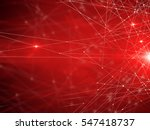 abstract connected dots on... | Shutterstock . vector #547418737