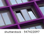 Ajar Window With Violet  ...