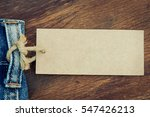 blank price tag hanging on... | Shutterstock . vector #547426213