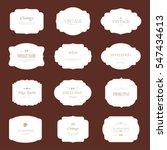 set of vintage label old...   Shutterstock .eps vector #547434613