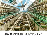 tall city buildings in a... | Shutterstock . vector #547447627