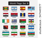 world flags set 8 . simple... | Shutterstock .eps vector #547449577