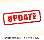 illustration of update text... | Shutterstock .eps vector #547457437