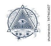 all seeing eye illustration.... | Shutterstock .eps vector #547461607