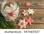 christmas gingerbread cookies... | Shutterstock . vector #547465537