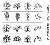vector trees with roots ... | Shutterstock .eps vector #547466053