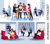 coworking people flat... | Shutterstock .eps vector #547466287
