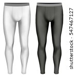 men's leggings. black and white ... | Shutterstock .eps vector #547467127