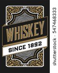 floral label for whiskey... | Shutterstock .eps vector #547468333
