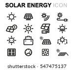 vector line solar energy icons... | Shutterstock .eps vector #547475137