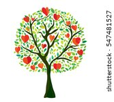 love tree with hearts ... | Shutterstock .eps vector #547481527