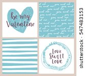 vector set of valentines day... | Shutterstock .eps vector #547483153