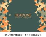 trendy horizontal geometric...   Shutterstock .eps vector #547486897