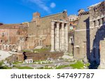 remains of forum of augustus... | Shutterstock . vector #547497787