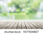 empty wooden table with party... | Shutterstock . vector #547504807