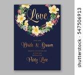 anemone wedding invitation...   Shutterstock .eps vector #547506913
