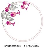 beautiful round frame with... | Shutterstock .eps vector #547509853
