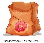 used paper bag on the floor... | Shutterstock .eps vector #547510243