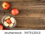 sliced apples in a glass bowl...   Shutterstock . vector #547512013