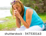 portrait attractive senior... | Shutterstock . vector #547530163