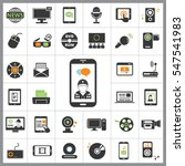 set of multimedia icons.... | Shutterstock .eps vector #547541983