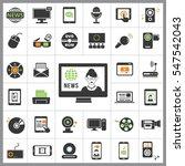 set of multimedia icons.... | Shutterstock .eps vector #547542043
