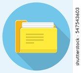 vector folder flat icon   Shutterstock .eps vector #547543603