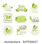 stevia natural food sweetener... | Shutterstock .eps vector #547550017