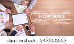 business concept  e commerce... | Shutterstock . vector #547550557