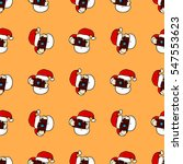 christmas seamless pattern with ... | Shutterstock .eps vector #547553623