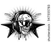 vector illustration skull and... | Shutterstock .eps vector #547555783