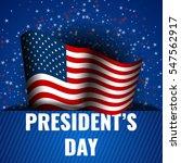 president's day banner... | Shutterstock .eps vector #547562917