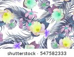 beautiful seamless vector... | Shutterstock .eps vector #547582333
