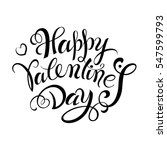 happy valentines day vintage... | Shutterstock .eps vector #547599793
