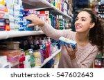 smiling female customer buying...   Shutterstock . vector #547602643