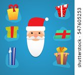 santa with various presents. | Shutterstock .eps vector #547605253