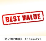 illustration of best value text ... | Shutterstock .eps vector #547611997