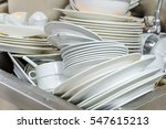 the plate dishes in the kitchen ... | Shutterstock . vector #547615213
